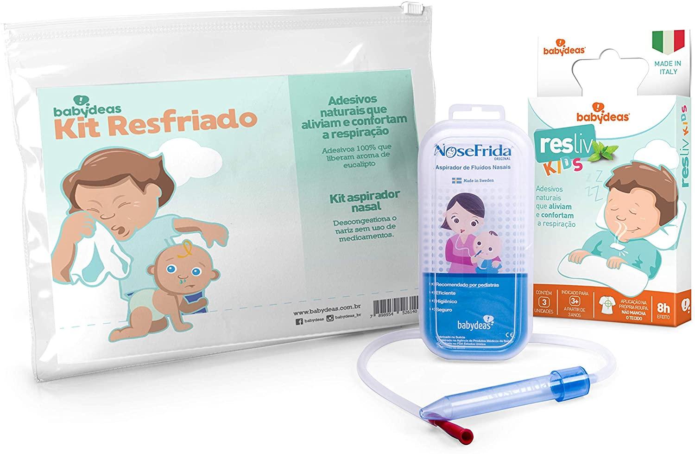 Kit Resfriado - 1 Aspirador 1 Resliv Babydeas