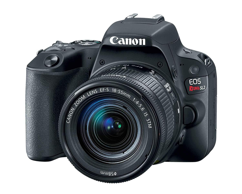 Câmera Digital EOS Rebel SL2 EF-S 18-55mm f/4-5.6 Canon Preto