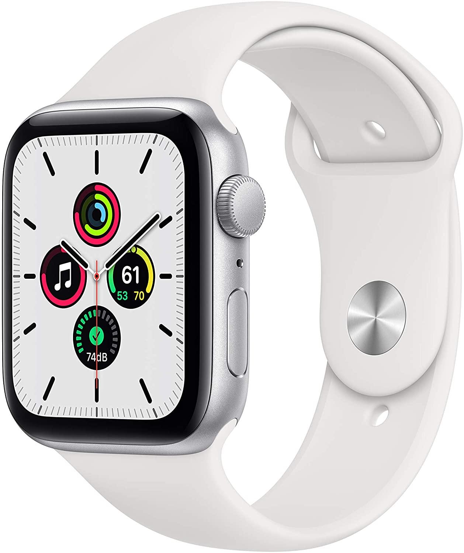 Apple Watch SE (GPS) 44mm Caixa Dourada de Alumínio com Pulseira Esportiva