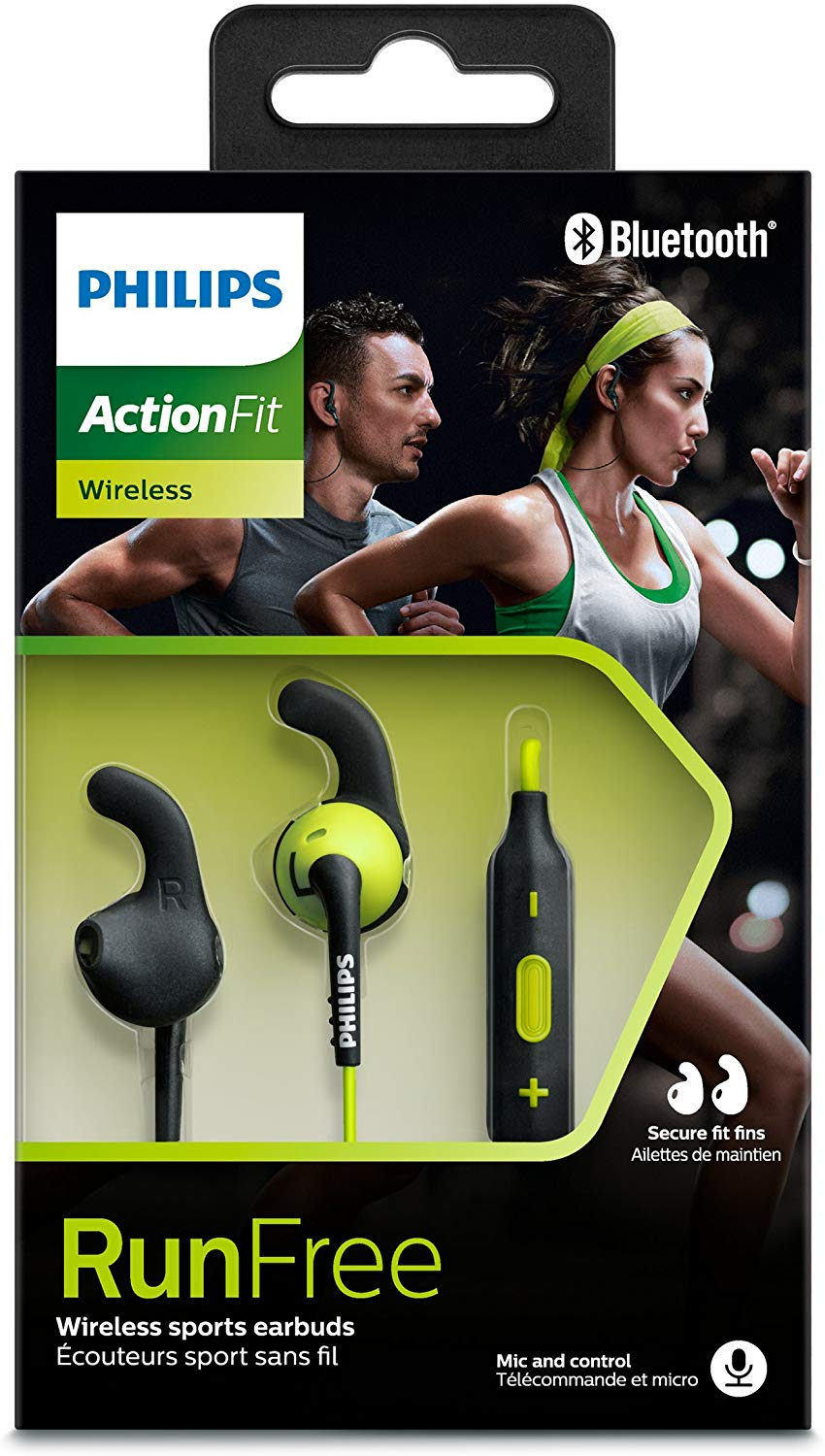 Fone Sport Sem Fio, Bluetooth Action Fit In Ear Resistente Ao Suor, Philips, SHQ6500Cl/00