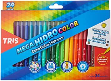 Hidrocor Pf, Tris, Mega Soft, Multicor, pacote de 24