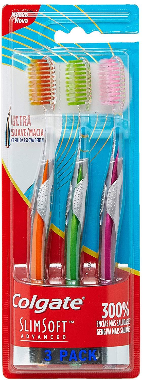 Escova Dental Colgate Slim Soft Advanced 3 Unid