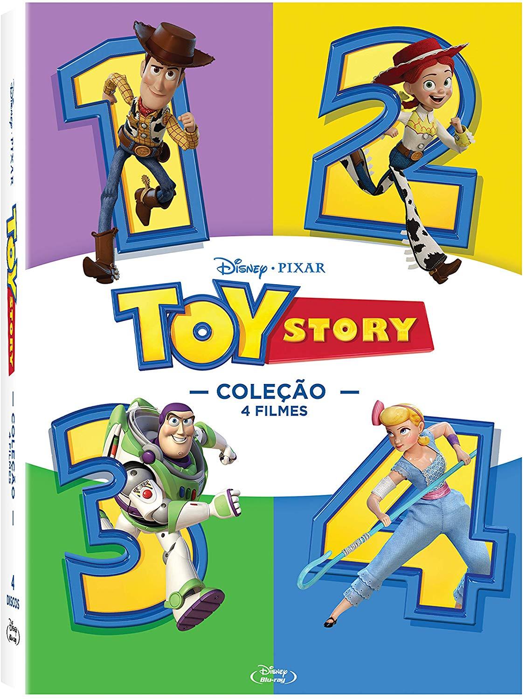 Blu-ray Coleção Toy Story - 4 Discos