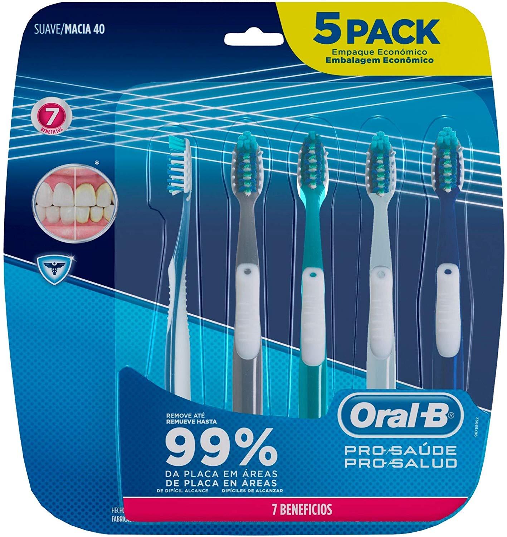 Escova Dental Oral-b Pro-saúde 7 Benefícios, 5 Unidades - Marketplace
