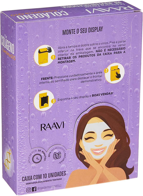 Pack Máscara de Tecido Facial Rejuvenescedora Colágeno e Q10 - Raavi, Raavi