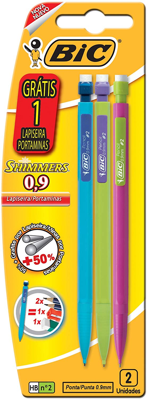 Lápiseiras 0 9mm Shimmers c/1 Lápiseira grátis 891947 Bic BIC 891947 Preto pacote de 3