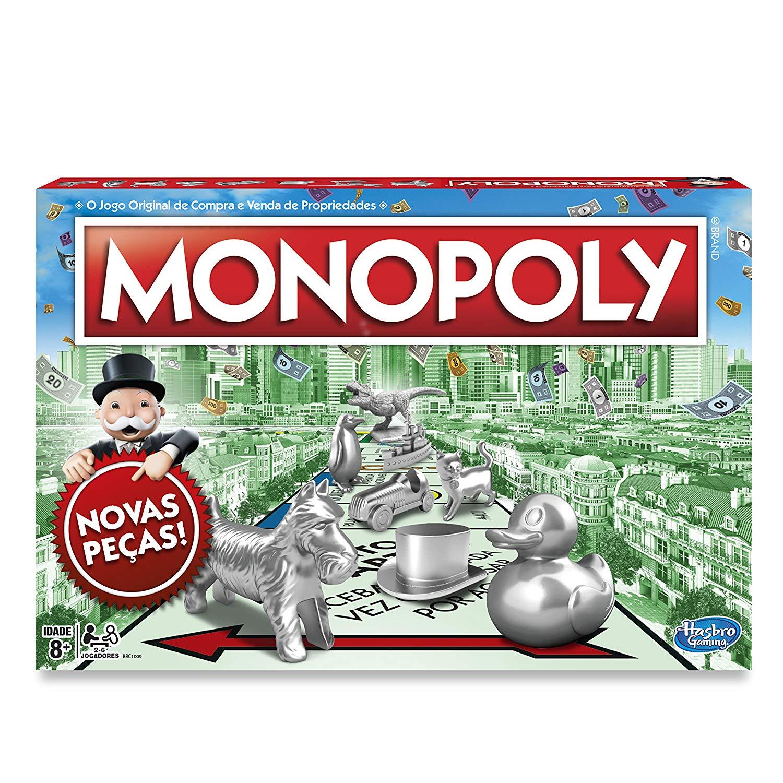 Jogo Monopoly Hasbro Verde/Vermelho