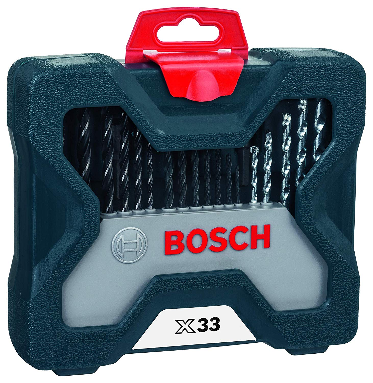 Jogo de Brocas e Bits X-line 33 Peças Bosch com Maleta