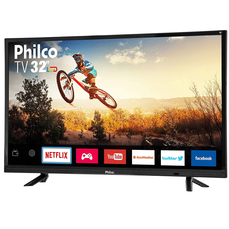 "Smart TV LED 32"" HD Philco PTV32E21DSWN 3 HDMI 2 USB Wi-Fi 60Hz"