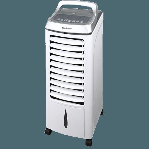 Climatizador de Ar Portatil e Umidificador Elétrico Springer Wind SCAFR Branco FrioCom Controle Remoto