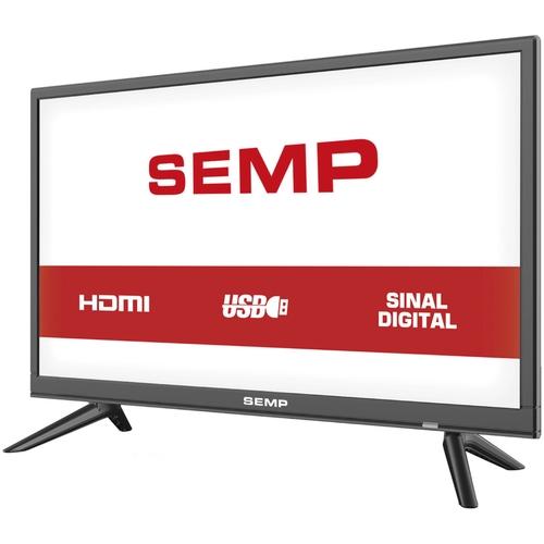 """TV LED 24"""" Semp S1300 HD Conversor Digital Integrado 2 HDMI 2 USB"""