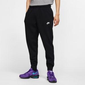Calça Jogger Moletom Nike Sportswear Club Masculina - Preto+Branco