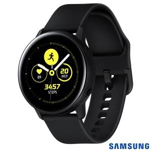 Galaxy Watch Active Samsung Preto 28 mm Pulseira de Silicone Bluetooth NFC e 4GB - SM-R500NZKAZTO