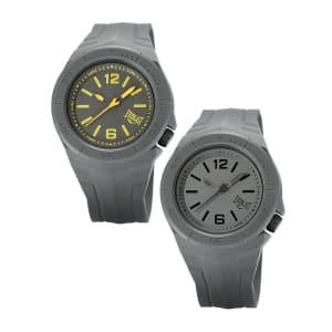 2 Relógios Everlast Unissex Cinza Analógico E294 + E295