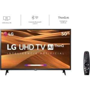 Smart TV Led 50'' LG 50UM7360 Ultra HD 4K com Conversor Digital + Wi-Fi 2 USB 3 HDMI Thinq Ai