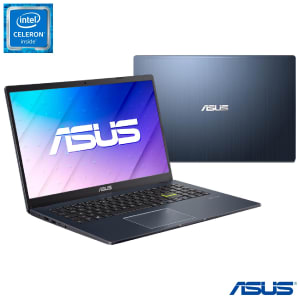 "Notebook Asus,Intel Celeron N4020 Dual Core, 4GB,128GB eMMC,Tela 15,6"",Intel UHD600,Windows 10 Pro,Black- E510MA-BR295R"
