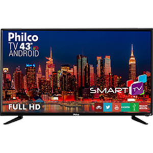 "Smart TV LED 43"" Philco Ph43n91dsgwa Full HD com Conversor Digital 2 HDMI 2 USB Função DNR"