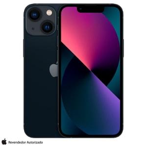 """iPhone 13 mini 128GB Preto, com Tela de 5,4"""", 5G e Câmera Dupla de 12MP - MLK03BZ/A"""