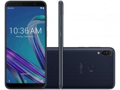 "Smartphone Asus ZenFone Max Pro (M1) 32GB Preto 4G - 3GB RAM Tela 6"" Câm. 13MP + 5MP + Selfie 8MP Preto"