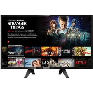"""Smart TV LED 32"""" Philips 32PHG5102/78 com Conversor Digital Wi-Fi integrado 2 USB 3 HDMI"""