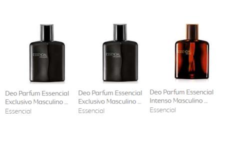 2 Deo Parfum Essencial Exclusivo Masculino 100ml + 1 Deo Parfum Essencial Intenso Masculino 100ml
