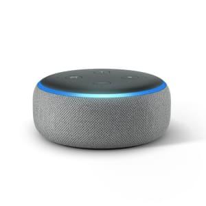 [3 cores] Echo Dot Amazon Smart Speaker Cinza Alexa 3a Geração em Português
