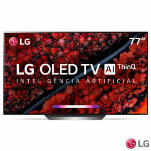 Smart TV LG OLED Ultra HD 4K com Controle Smart Magic, AI Picture, Dolby Atmos® e Wi-Fi - OLED77C9PSA