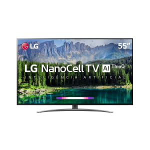 "Smart TV LED 55"" LG SM8600 NanoCell 4K, IPS, HDR com Dolby Vision - Atmos, WebOS 4.5, Inteligência Artificial"
