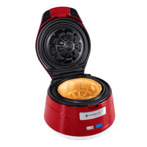 Máquina de Waffle Cadence Bowl/Cestinha Vermelha/Branca