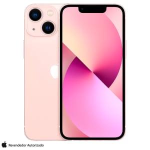 """iPhone 13 mini 128GB Rosa, com Tela de 5,4"""", 5G e Câmera Dupla de 12MP - MLK23BZ/A"""