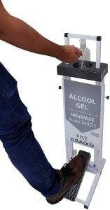 Suporte para Álcool Gel com pedal