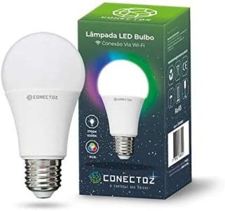 Smart Lâmpada Inteligente LED A60 Bulbo Wi-Fi E27 - 9W - RGBW Colorido - Branco Frio e Quente