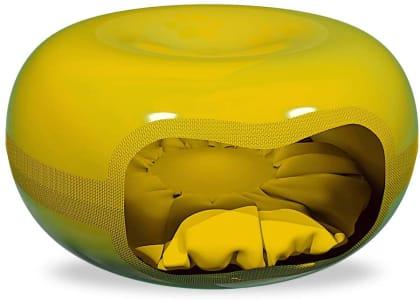 Casa Gato Amarelo Mecpet para Cães