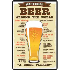 Placa Decorativa 5080 A Beer Please - at.home (Cód. 125300808)