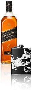 Combo Jw Black Label 1l + Flask Personalizada Zippo