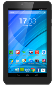 "Tablet Multilaser M7qc Nb223 Preto 7"" Wifi+3G Android 4.4 Kit Kat 8Gb Quad Core, Dual Cam, Dual Chip"