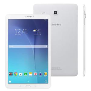 """Tablet Samsung Galaxy Tab E 9.6 Wi-Fi SM-T560 com Tela 9.6"""", 8GB, Câmera 5MP, GPS, Android 4.4, Processador Quad Core 1.3 Ghz - Branco"""