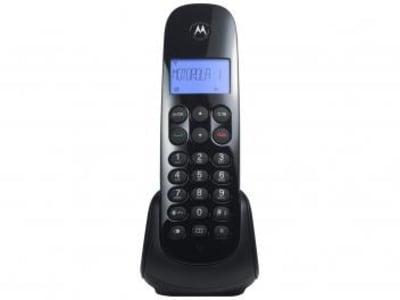 Telefone Sem Fio Motorola MOTO700 - Identificador de Chamada Preto - Magazine Ofertaesperta