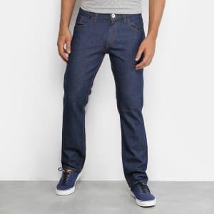 Calça Jeans Reta Rock Tradicional Masculina - Azul Escuro