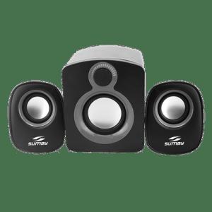 Caixa de Som Sumay Portátil 2.1 Para PC SM-CSPC1312 Preto