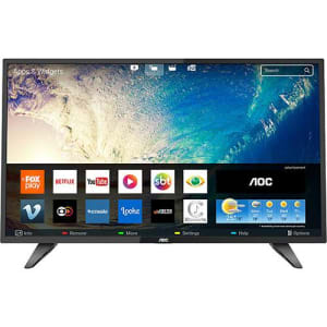 "Smart TV LED 39"" AOC LE39S5970 HD com Conversor Digital 2 HDMI 1 USB Wi-Fi Função Closed Caption - Preta"