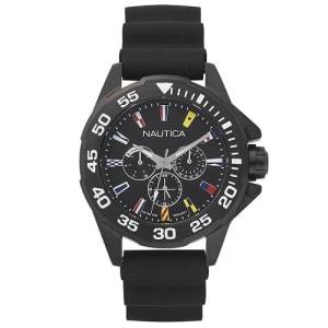 Relógio Nautica Masculino Borracha Preta - NAPMIA001