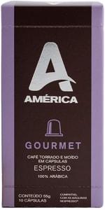 Café em cápsulas América Gourmet, compatível com Nespresso