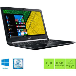 "Notebook Acer A515-51G-72DB Intel Core I7 8GB (GeForce 940MX com 2GB) 1TB Tela LED 15.6"" Windows 10 - Cinza Escuro"