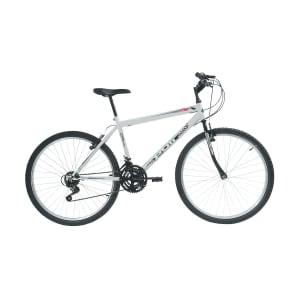 Bicicleta Aro 26 Polimet 18 Marchas MTB Mountain Bike Branca