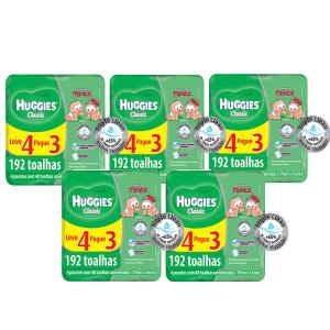 Kit de Lenços Umedecidos Huggies Turma da Mônica Classic - 960 Unidades