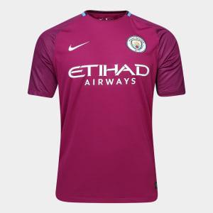 Camisa Manchester City Away 17 18 s n° - Torcedor Nike Masculina - 79bc6e66b5c1f