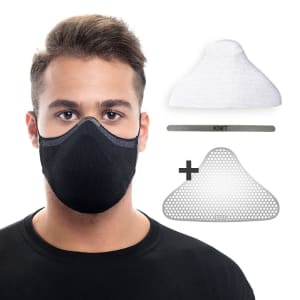 Kit Essencial Máscara KNIT Max95 com 15 Filtros, 1 Clipe Nasal e 1 Suporte