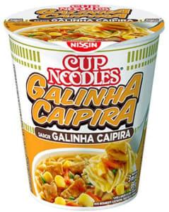 10 UnidadesCup Noodles Sabor Galinha Caipira Nissin 69g