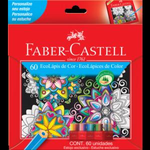 Lápis De Cor Sextavado Faber Castell60 Cores